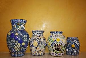 1. Pique Assiette Vases